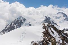 Wonderfull mountain landscape. Wonderful mountain landscape snow, highland, peak Stock Photography