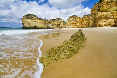 Wonderfull Portuguese beach Royalty Free Stock Images