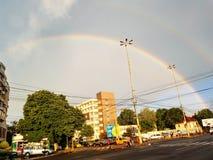 Wonderfull regnbåge i Constanta Rumänien Arkivbild