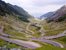 Wonderfull road - Transfagarasan. The Transfăgărășan was constructed between 1970 and 1974 during the rule of Nicolae Ceaușescu as a response to royalty free stock images