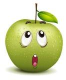 Wondering apple smiley Stock Photos