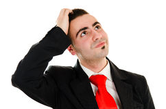 Wondering Businessman Stock Image