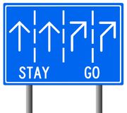 Stay or go. Wondering about deciding to go or to stay Royalty Free Stock Images