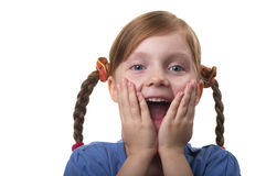 Wondering funny girl Stock Photos