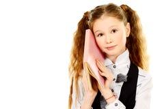 Wondering girl Stock Image