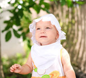 Wondering of little child Royalty Free Stock Photography