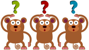 Wondering monkeys Royalty Free Stock Images