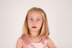 Wondering preschool girl Royalty Free Stock Photography