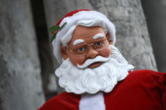 Wondering Santa. A life-size Santa on the street is looking at you before christmas in Budapest Royalty Free Stock Photo