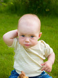 Wondering small  baby Stock Images