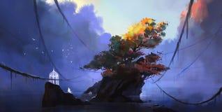 Free Wonderland At The Bottom Of The Lake, Digital Illustration Stock Photos - 207698733