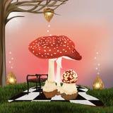 Wonderland background Stock Photography