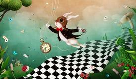 Wonderland background royalty free stock photo