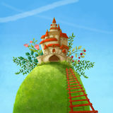 Wonderland country castle Royalty Free Stock Photos