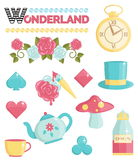 Wonderland magic dream illustrations set Stock Image