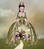 Wonderland queen. Wonderland series - Wonderland queen - Digital artwork Royalty Free Stock Photography