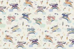 Wonderland unicorn pattern. Wonderland unicorn stars ice cream vector pattern Royalty Free Stock Photography
