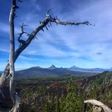 Wonderland Views. Glorious hike into the central Oregon Cascades stock photos