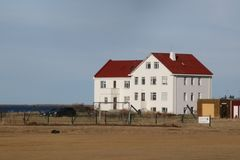 The magnificent house by the Atlantic Ocean. Royalty Free Stock Photos
