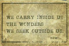 Wonders inside Rumi Royalty Free Stock Image