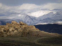 Wonderstone Mountain in the Nevada desert Stock Images