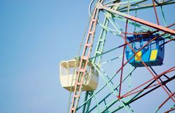 Wonderwheel  cabin coney island new york. Great safety precaution in cabin design , its impossible to move out of it during trip of this attraction onConey Royalty Free Stock Photo