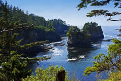 Wondrous Cape Flattery. The most northwest point of the contiguous United States, located within the Makah Indian Reservation, Washington Royalty Free Stock Image