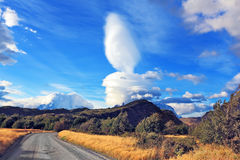 Wondrous cloud over Patagonia Royalty Free Stock Photo