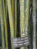 Wong Chuk Royal Bamboo Graffiti Sign Stock Photos