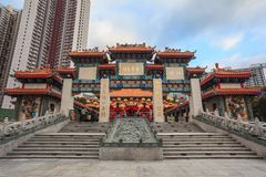 Wong Tai grzechu świątynia, Hong Kong Fotografia Royalty Free
