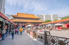 Wong Tai Sin is Chinese deity populair met de macht van het helen Royalty-vrije Stock Afbeeldingen