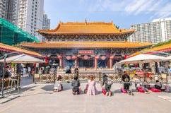 Wong Tai Sin is Chinese deity populair met de macht van het helen Stock Afbeelding