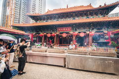 Wong Tai Sin deity in Hong kong. Stock Images
