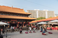 Wong Tai Sin Temple также вызвало Sik Sik Yuen китайским виском в Гонконге Стоковое Изображение RF