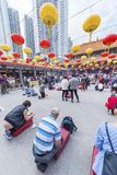Wong Tai Sin Temple dans Kowloon en Hong Kong, Chine images libres de droits