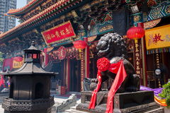 Wong Tai Sin Temple hall stock image