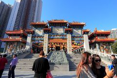 Wong tai sin temple hong kong Stock Image