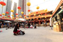 Wong tai sin temple hong kong Royalty Free Stock Photos