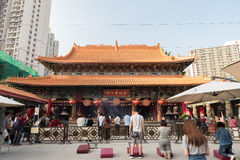 Wong Tai Sin Temple inoltre ha chiamato il tempio di Sik Sik Yuen Chinese in Hong Kong immagine stock libera da diritti
