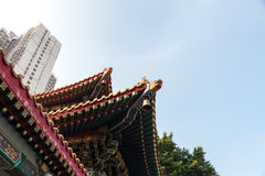 Wong Tai Sin Temple kallade också den Sik Sik Yuen Chinese templet i Hong Kong Royaltyfri Fotografi