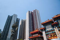 Wong Tai Sin Temple in Kowloon group downstairs Royalty Free Stock Photos