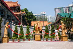 Wong Tai Sin Temple in Kowloon joking like Stock Photography