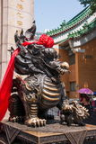 Wong Tai Sin temple town house unicorn beast Stock Image