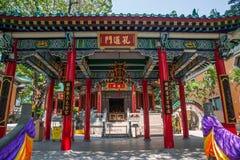 Wong Tai Sin Temple tunneldörrar, Linge arkivfoto