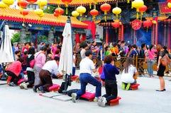 Wong tai syndar tempelet Hong Kong Fotografering för Bildbyråer