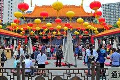 Wong tai syndar tempelet Hong Kong Royaltyfri Foto
