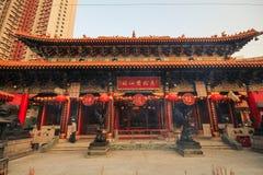 Wong Tai syndar tempelet, Hong Kong Royaltyfria Bilder