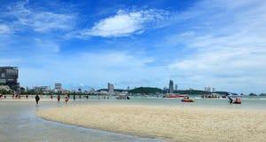 Wongamart beach, Pattaya, Thailand Royalty Free Stock Photos