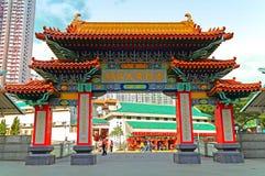 Wongtai de voorgevel van de zondetempel Stock Fotografie