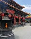 Wongtaisin寺庙在香港 免版税库存图片